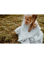 Les Petits Héros Personalized LPH blanket Grey/Camel  (6 letters max)