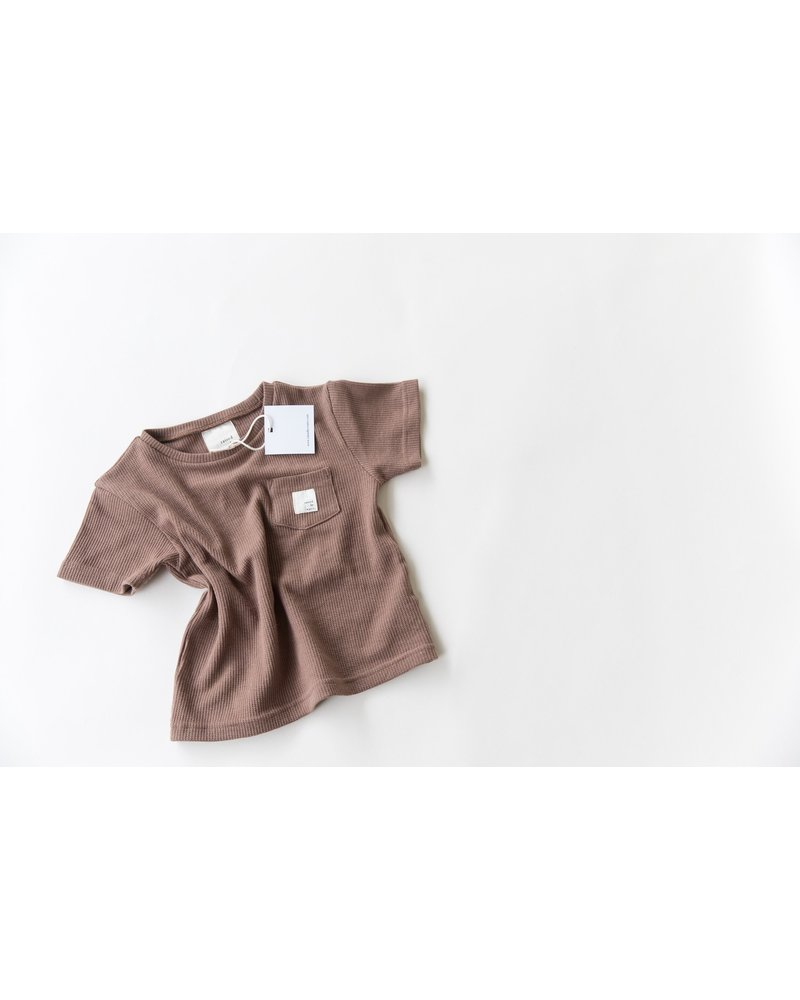 Raised By Water Logo pocket tee - Brown