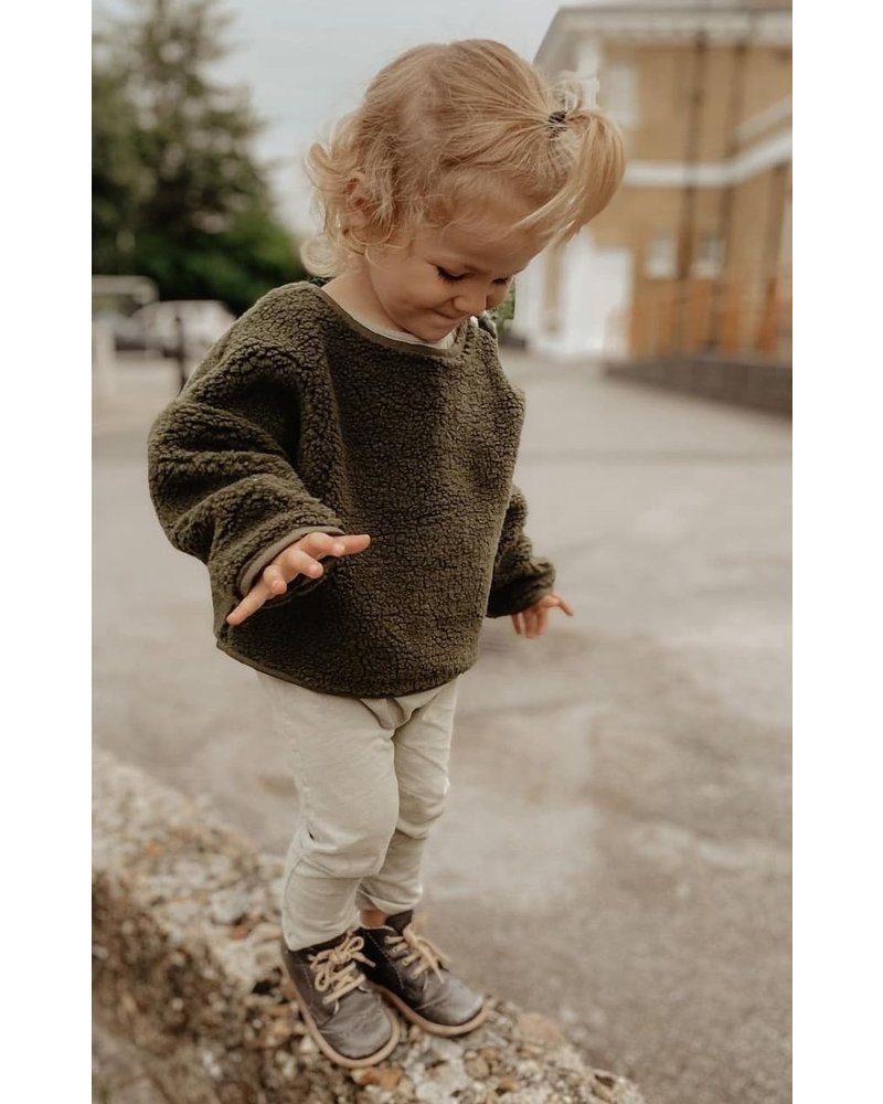 Daily Brat Teddy oversized sweater forest green