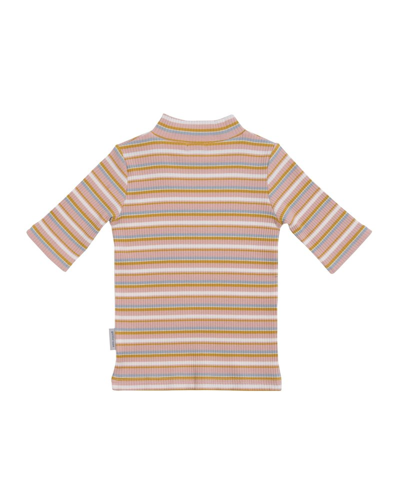Goldie + Ace 3/4 Sleeve Ribbed Turtle Neck Top