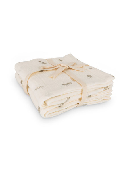That's Mine Muslin Cloths 2 pack - Sea Shell