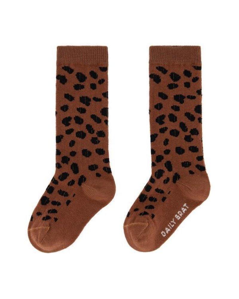Daily Brat Mini socks  brownie