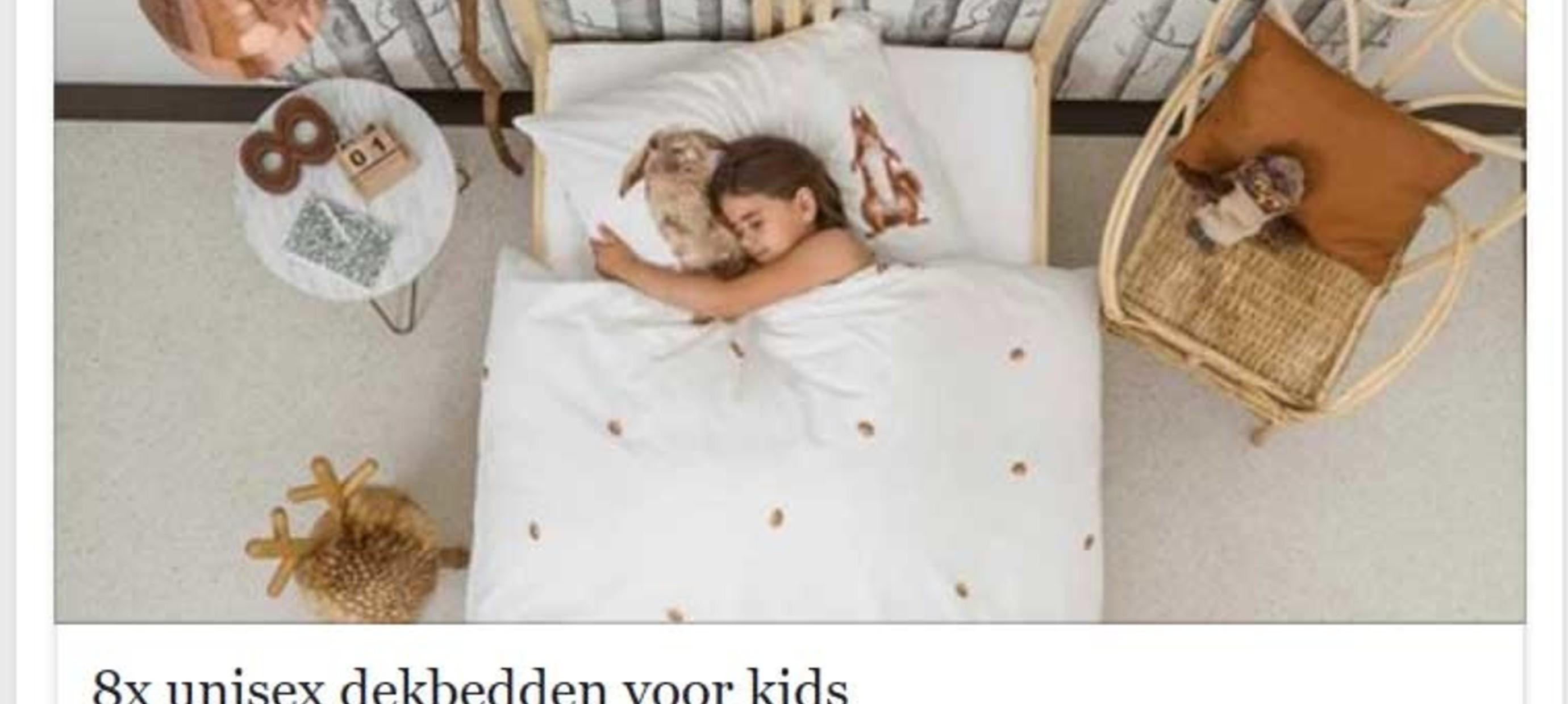 Onlinelifestylemagazine selecteert 8 mooie én unisex dekbedovertrekken voor kids