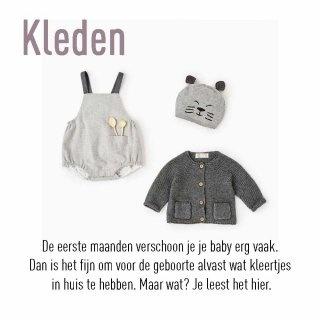 De eerste maanden verschoon je je baby erg vaak. Dan is het fijn om voor de geboorte alvast wat kleertjes in huis te hebben. Maar wat? Je leest het hier.