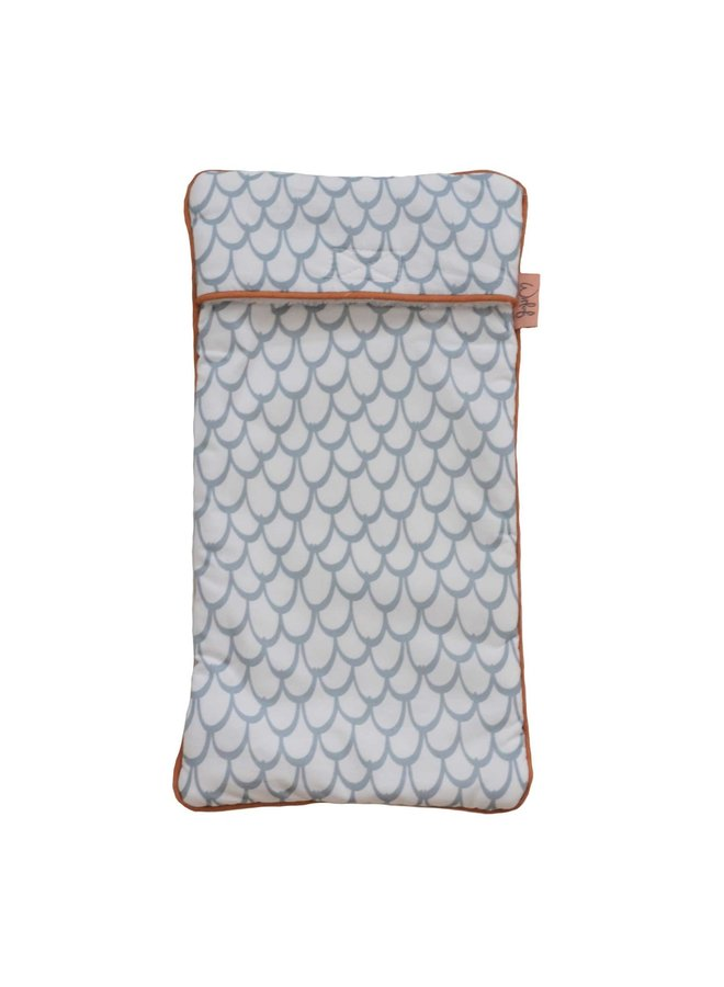Hot water bottle cover Fly High Dusty Blue