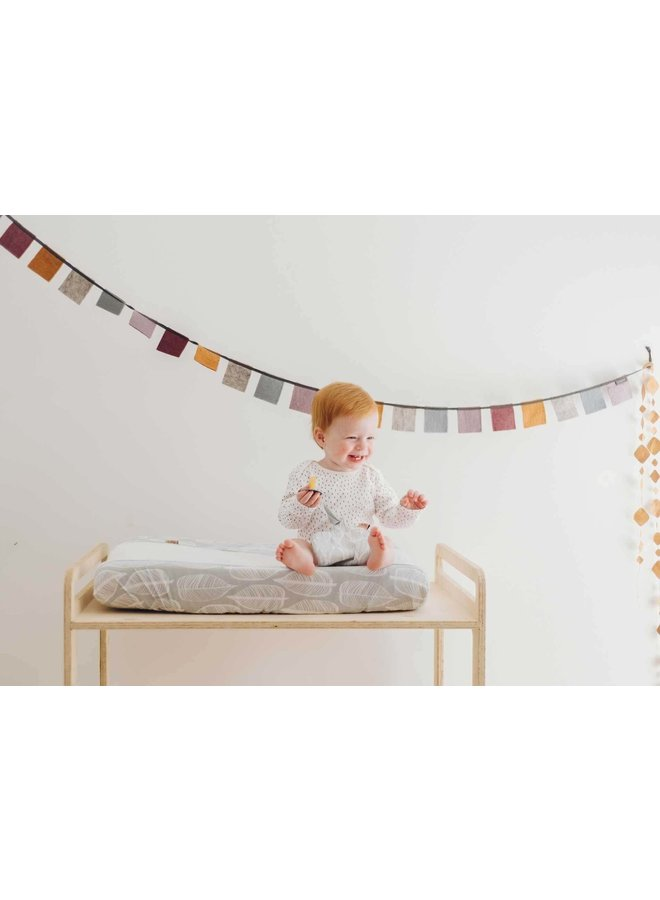 Changing pad cover Beleaf Warm Grey