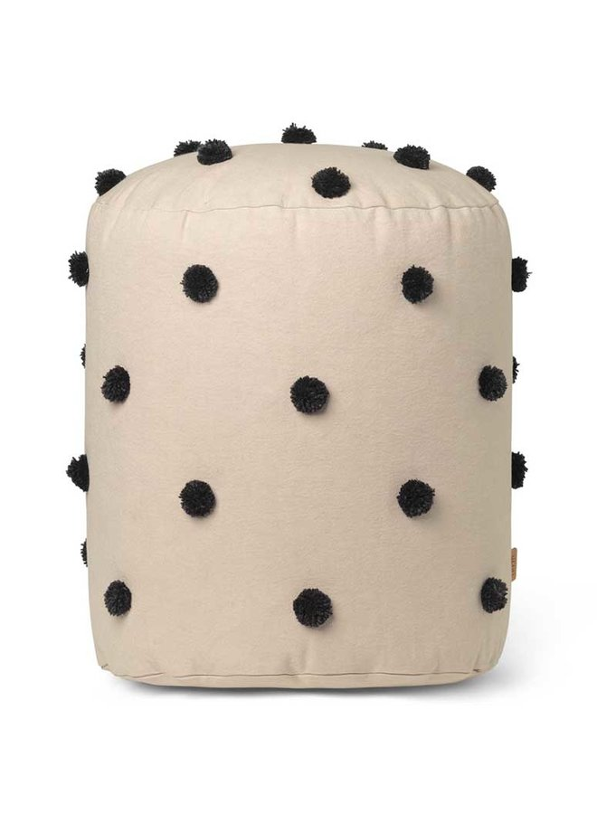 Ferm Living pouf Dot Tufted - Sand Black