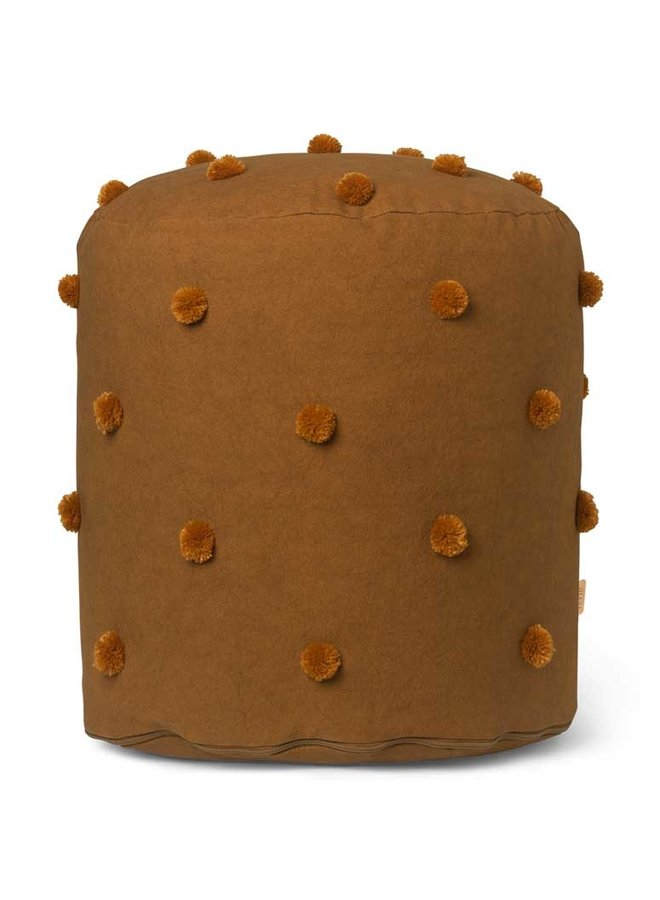 Ferm Living pouf Dot Tufted - Sugar Kelp Mustard