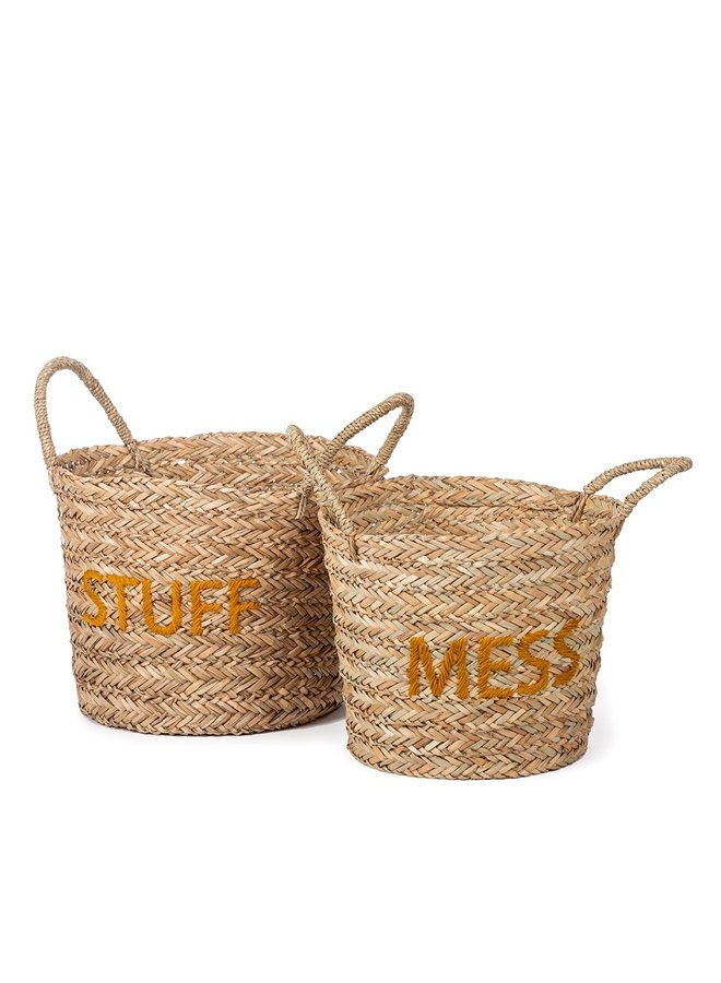 Kidsdepot Messy/Stuff basket set ochre