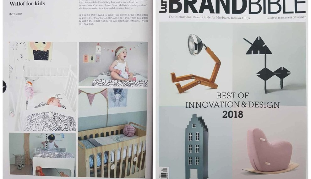 Geselecteerd als 'best of innovation & design 2018' door LUNA Brand Bible