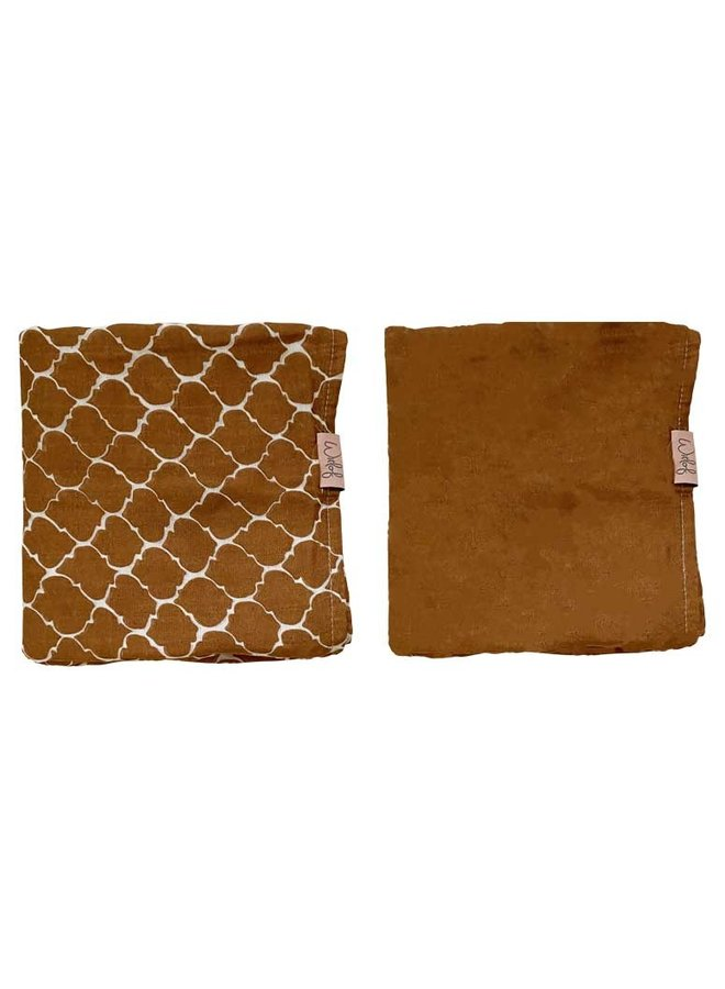 Swaddle 80x80 cm 2-PACK Once upon a dream Hazel brown