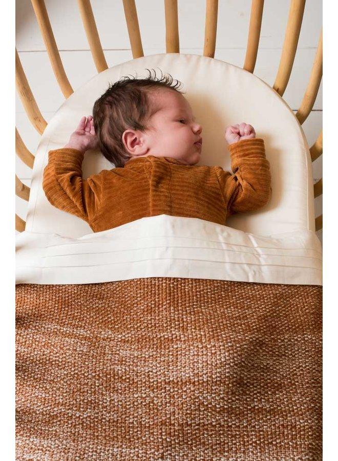Tuck-Inn® bassinet blanket Ombre Hazel brown