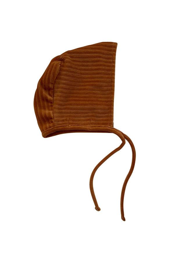 Baby hat 6-12 months Corduroy Hazel brown