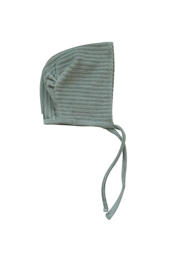 Baby hat 6-12 months Corduroy Sage green