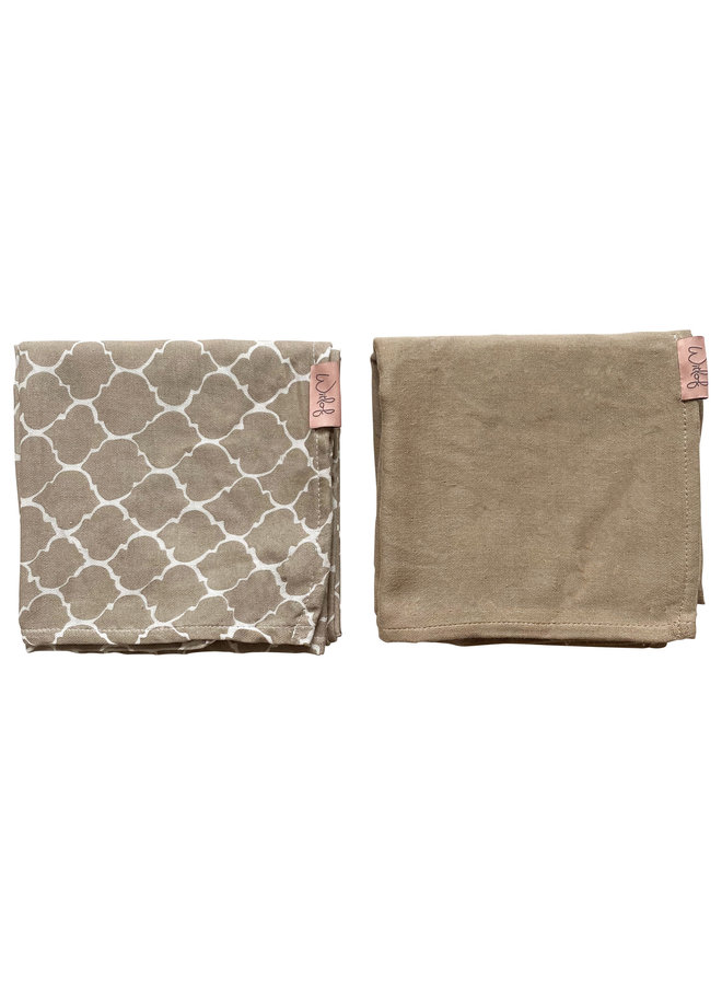 Swaddle (hydrofiele doek) 80x80 cm 2-PACK Once upon a dream Sand