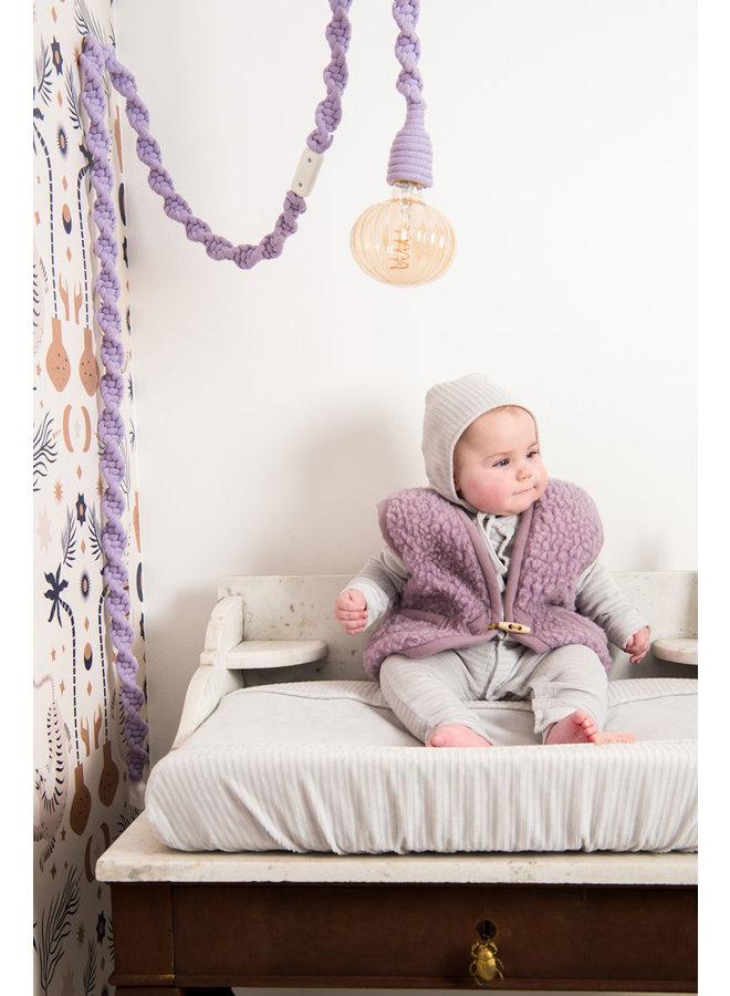Baby hat 6-12 months Corduroy Warm grey