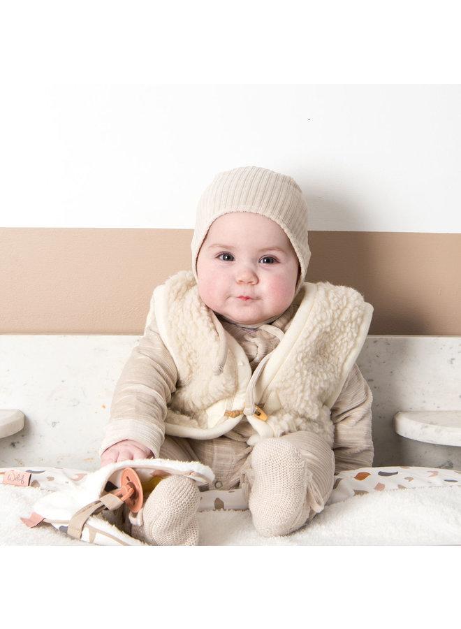 Babymutsje 1-6 mnd Corduroy Sand