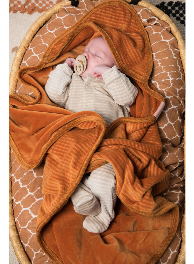 Swaddle (hydrofiele doek) 120x120 cm Once upon a dream Hazel brown