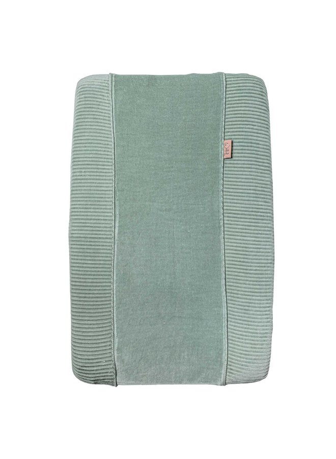 Changing pad cover Corduroy Sage green