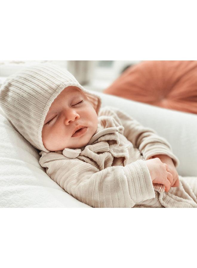 Baby hat 6-12 months Corduroy Sand