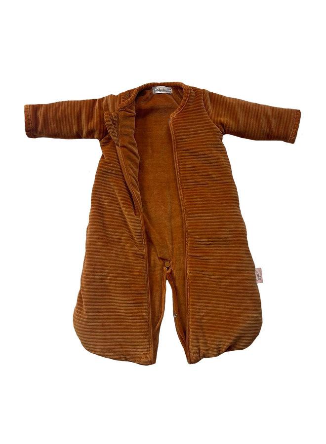 Sleeping bag SLEEP & GO  winter 0-4 mnths Corduroy Hazel brown