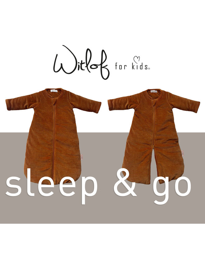 Sleeping bag SLEEP & GO  winter 0-4 mnths Corduroy Sand