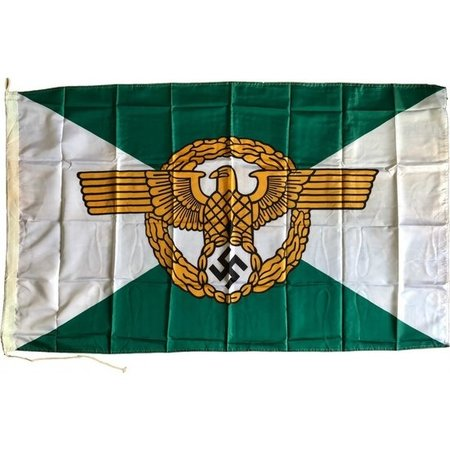 third reich police flag polyester