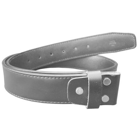 Black leather belt for modern buckles