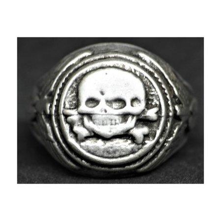 SS doodshoofd ring