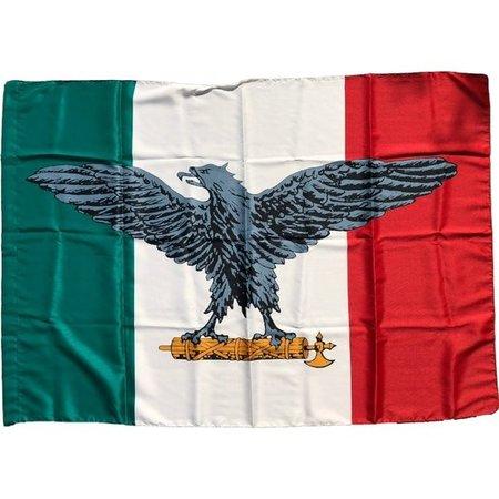 Italian social republic flag polyester