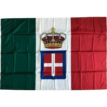 Kingdom Italy flag polyester