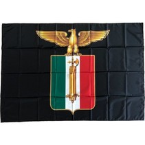 Italian eagle flag polyester