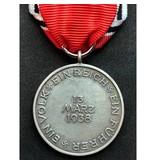 Anschluss 1938 medal