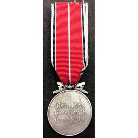 Duitse dienst medaille met zwaarden