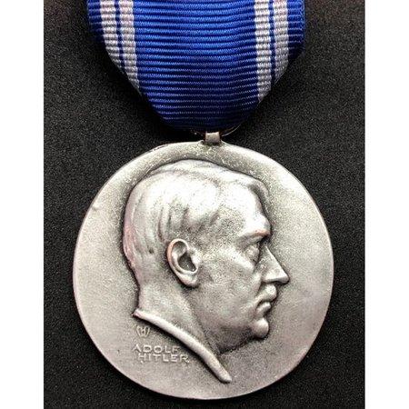 Adolf Hitler medaille zilver