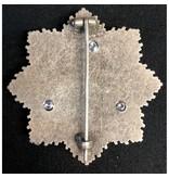 Duitse kruis broche goud & zilver