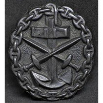 Navy wounded in combat badge black