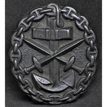 Marine verwonding badge zwart