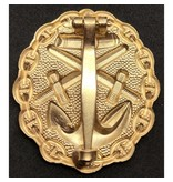Marine verwonding badge goud