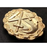 Navy wounded in combat badge gold