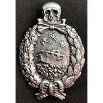Panzer WW1 badge silver