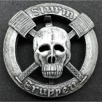 Sturmtruppen badge silver