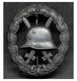 Wounded in combat 1915-1918 badge zwart