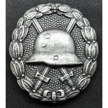 Infanterie verwonding WO1 badge zilver