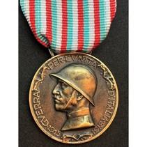 Italië-Oostenrijk oorlog 1915 medaille goud