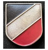 Nationale kleuren metalen helm badge