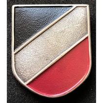 National colors metal helmet badge
