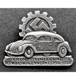 Volkswagen badge silver