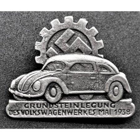 Volkswagen badge zilver