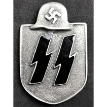 Waffen SS shield badge